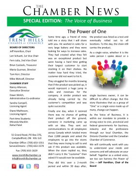Trent Hills Chamber of Commerce September 2016 Newsletter